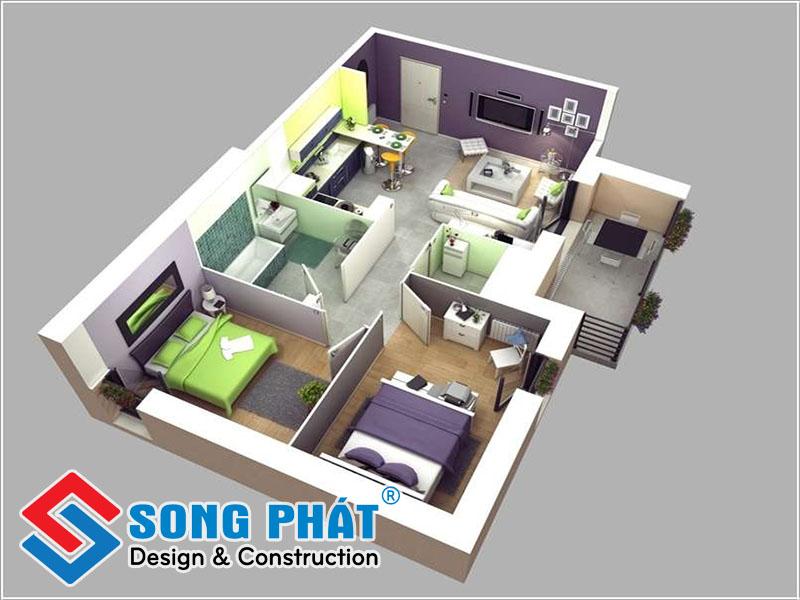 Thiết kế nội thất cho nhà đẹp 60m2