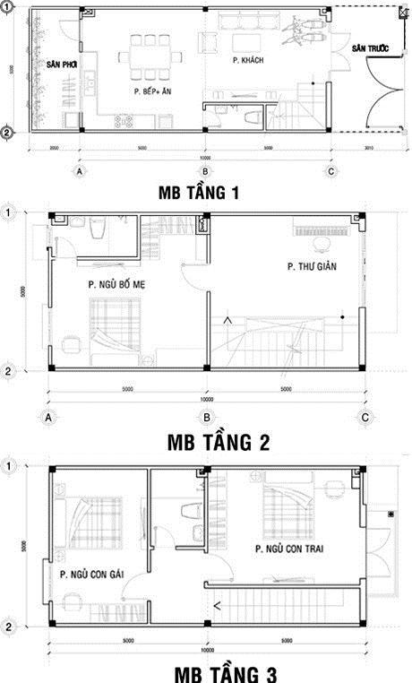 căn nhà phố 3 tầng