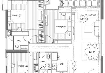 Nội thất căn hộ 104m2