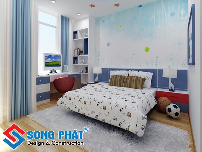 Phòng ngủ với màu sắc tinh nghịch, hiếu động dành cho trẻ em