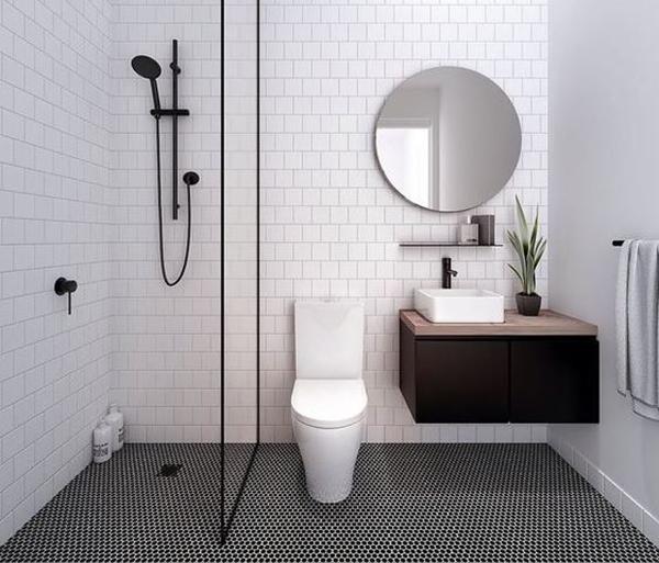 Phòng tắm đẹp với diện tích nhỏ
