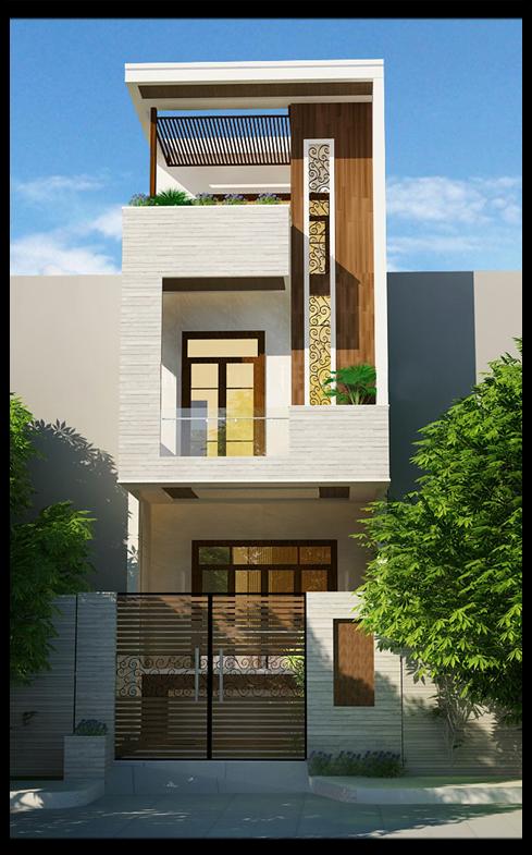 xây nhà 2,5 tầng
