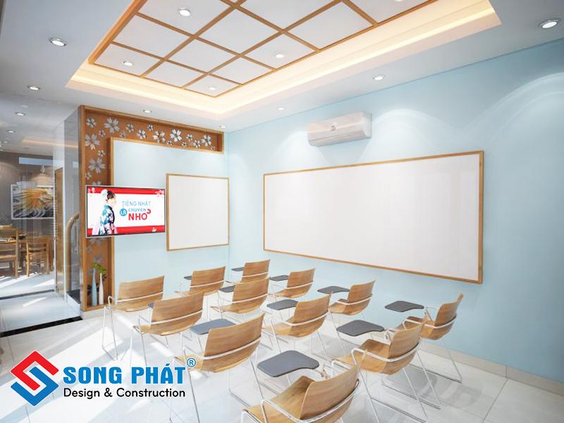 Căn phòng phục vụ trong cho việc dạy học - nhà phố 3 tầng 1 tum