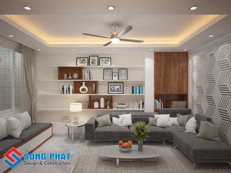 Phòng khách trong mẫu thiết kế nội thất đẹp