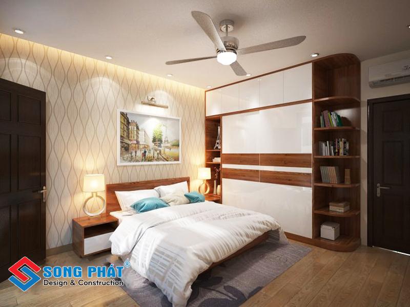 Tranh treo tường tạo nên sự trang nhã cho căn phòng trong mẫu thiết kế nội thất đẹp