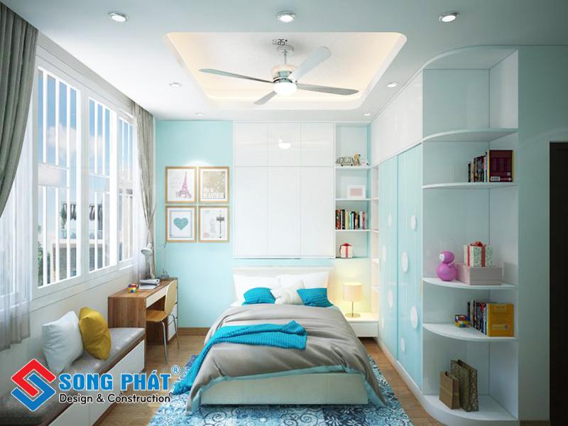 Phòng con gái trong mẫu thiết kế nội thất đẹp