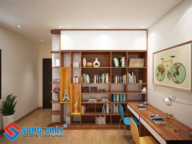 Phòng đọc sách cho con trong mẫu thiết kế nội thất đẹp