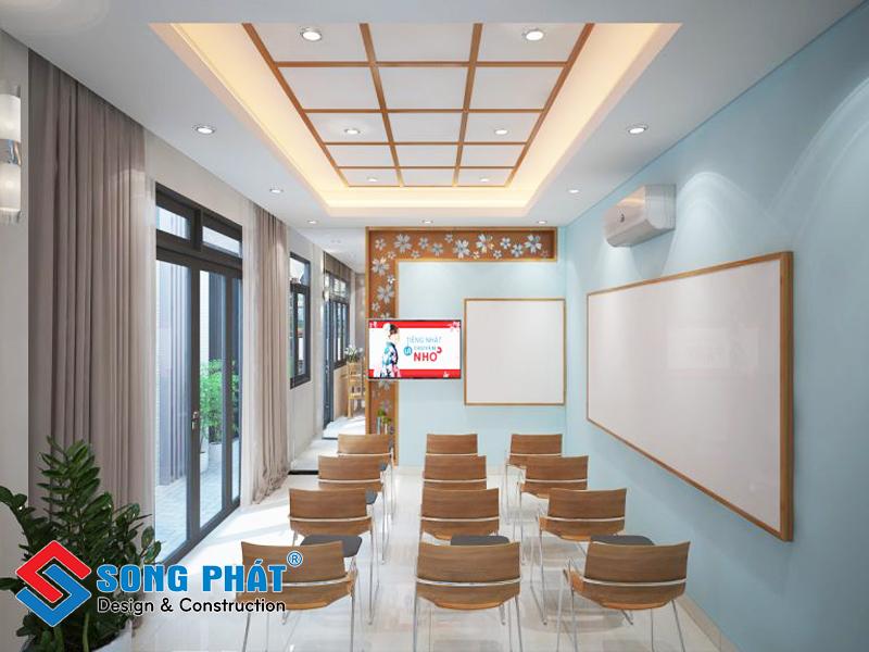Phòng học tiếng Nhật trong nhà phố 3 tầng 1 tum