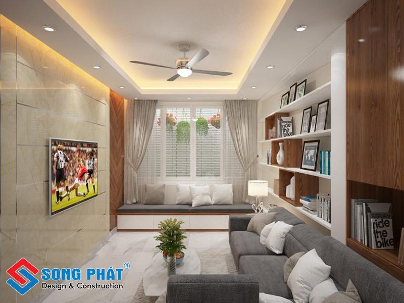 Phòng khách hiện đại trong mẫu thiết kế nội thất đẹp