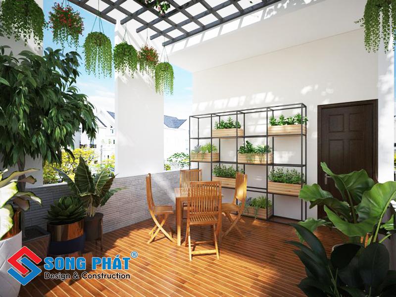 Nơi hóng mát cho các thành viên trong gia đình trong mẫu thiết kế nội thất đẹp