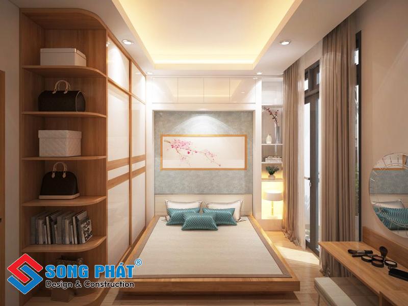 Nội thất phòng ngủ nhà phố 3 tầng 1 tum