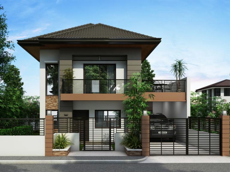 mẫu nhà 2 tầng hiện đại