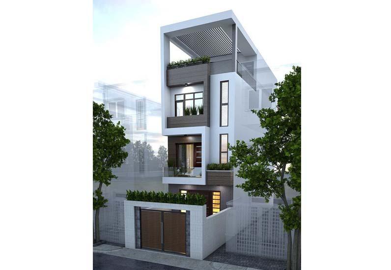nhà phố mặt tiền 5m