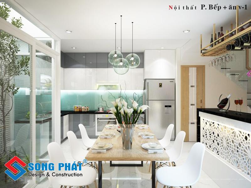 Thiết kế bếp của ngôi nhà 3 tầng