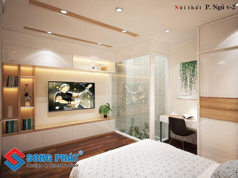 Phòng ngủ ấm cúng với thiết kế hiện đại