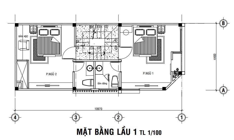 Giá xây nhà thô 3 tầng