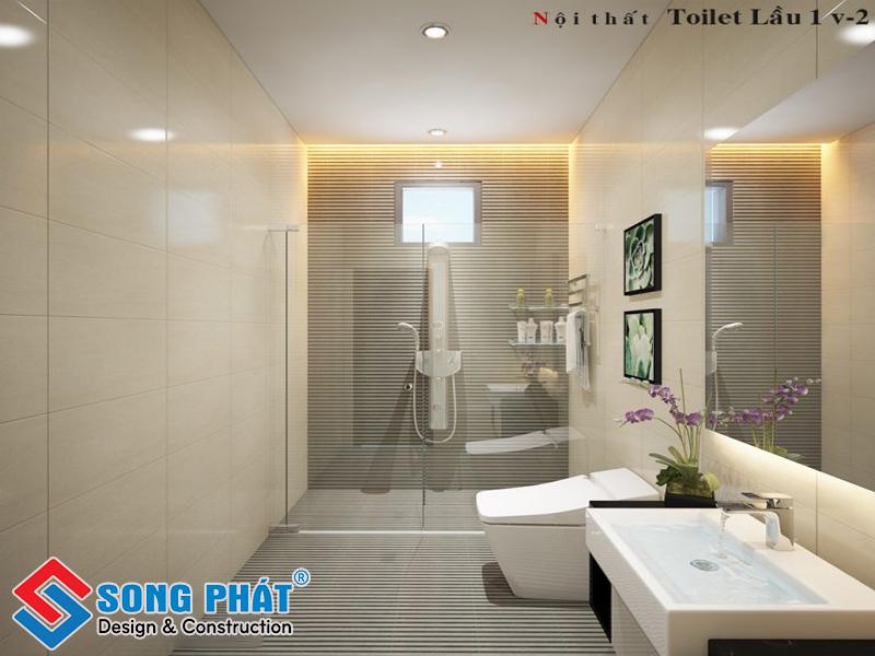Đơn giản với thiết kế nhà vệ sinh