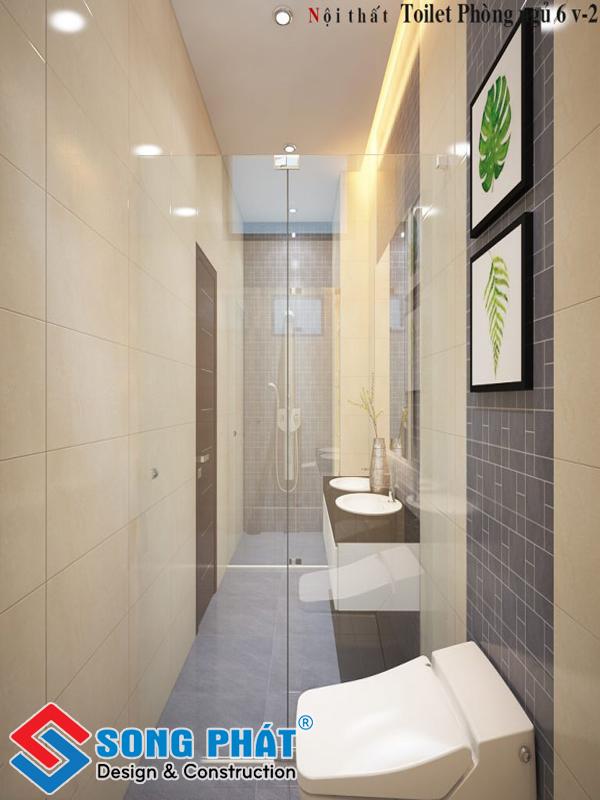 Đơn giản thiết kế để không gian nhà vệ sinh thêm thoáng rộng hơn