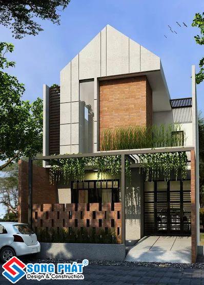 Thiết kế mặt tiền nhà phố 6m