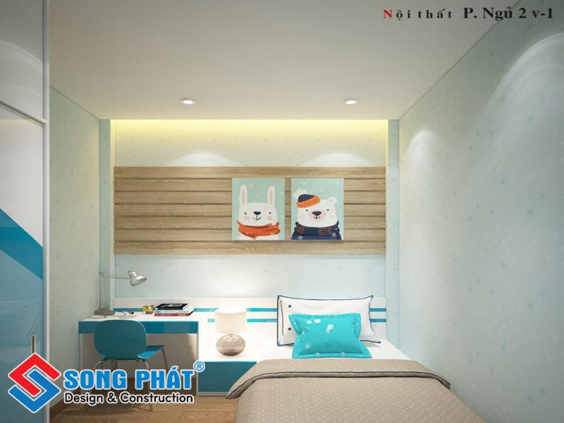 Phòng ngủ con trai nhỏ với thiết kế đơn giản
