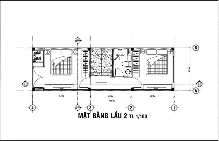 mẫu nhà 1 trệt 3 lầu