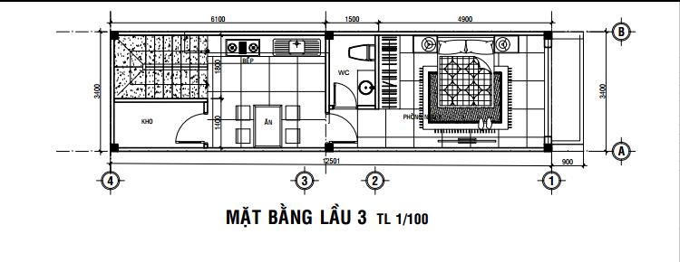 nhà 3 lầu 40m2