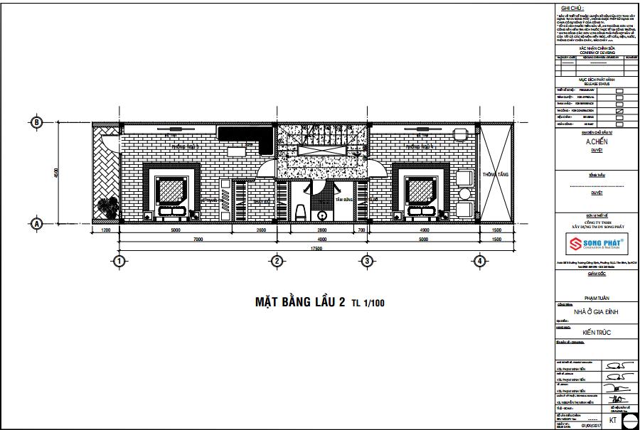 xây nhà 80m2 1 trệt 2 lầu