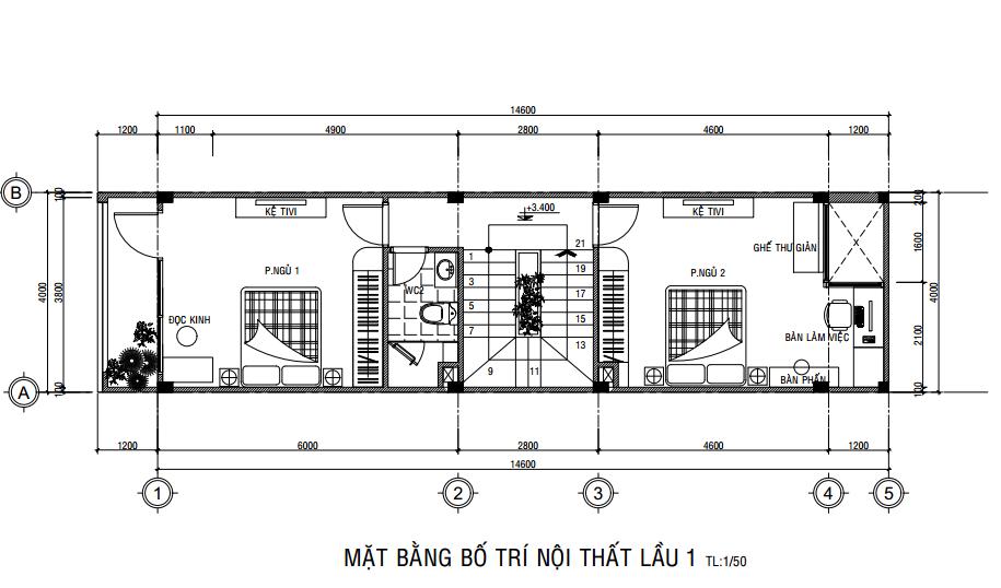 nhà phố 3 tầng 4x15m