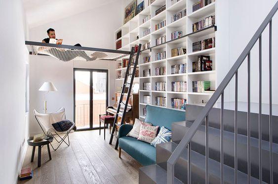 phòng đọc sách cho nhà phố