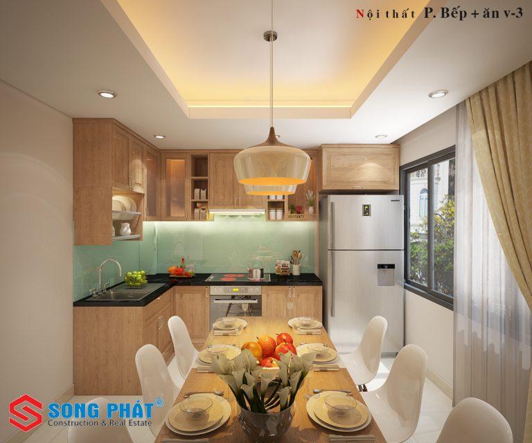 thiết kế bếp 2019