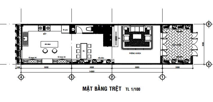 bản vẽ nhà 2 tầng