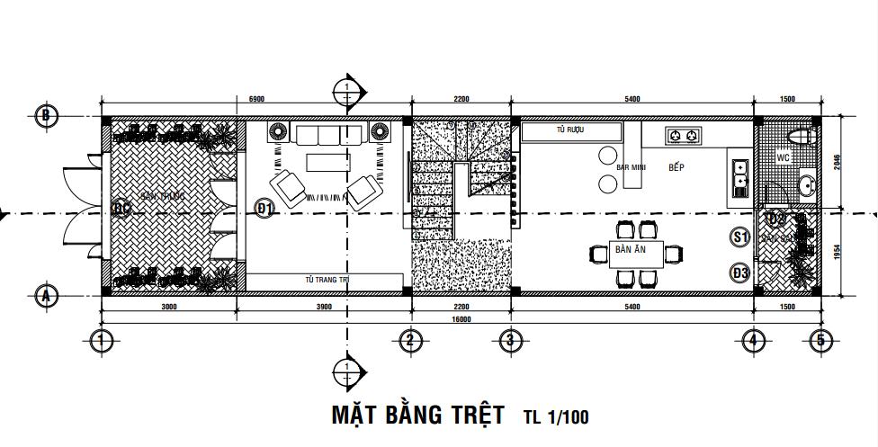 tư vấn xây nhà 4x16m