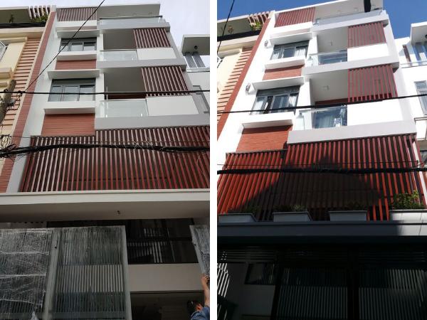 nhà phố 5 tầng có giếng trời