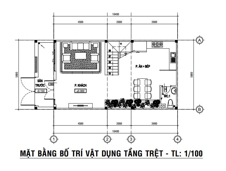thiết kế nhà 3 tầng 2019