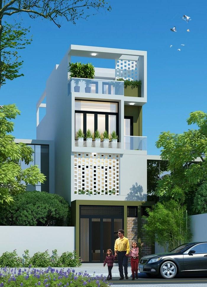 thiết kế nhà 4 tầng 2019