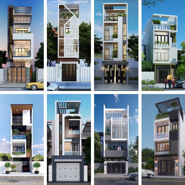 thiết kế nhà 4 tầng 2020