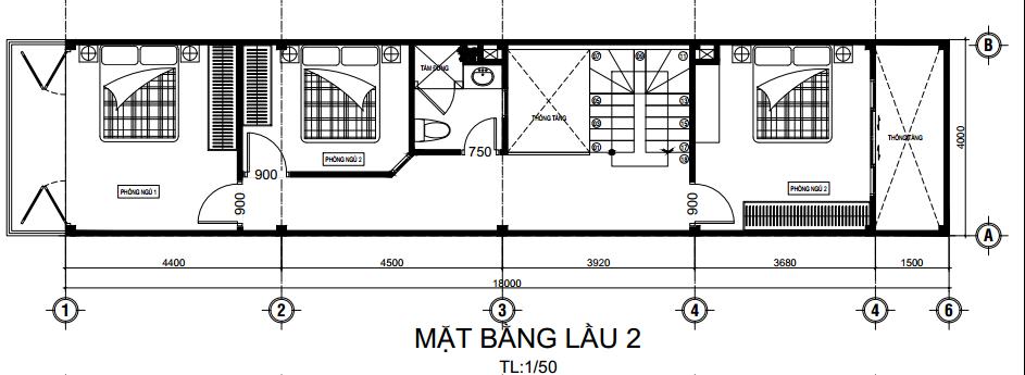 tư vấn bố trí nhà 5 tầng