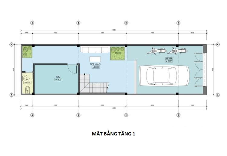 nhà 3 tầng 4,5x16m