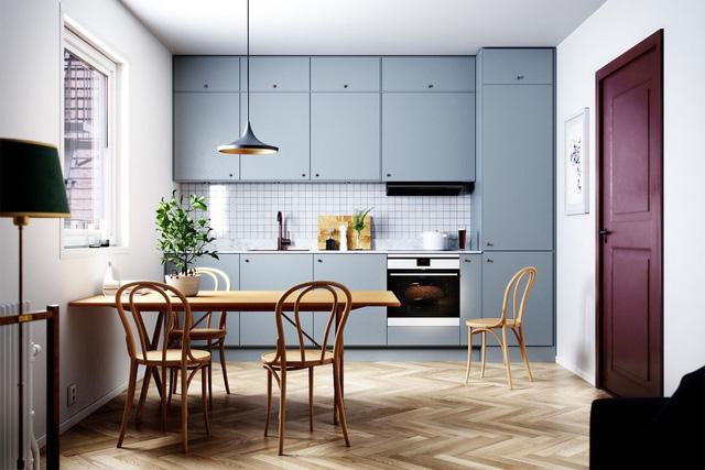 bố trí nhà bếp đẹp 2019
