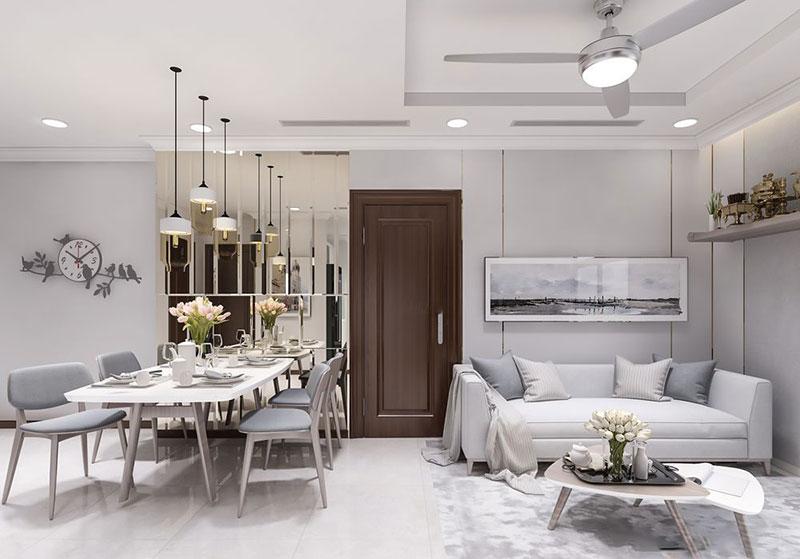 Bừng sáng không gian với nội thất chung cư 80m2 đẹp lung linh