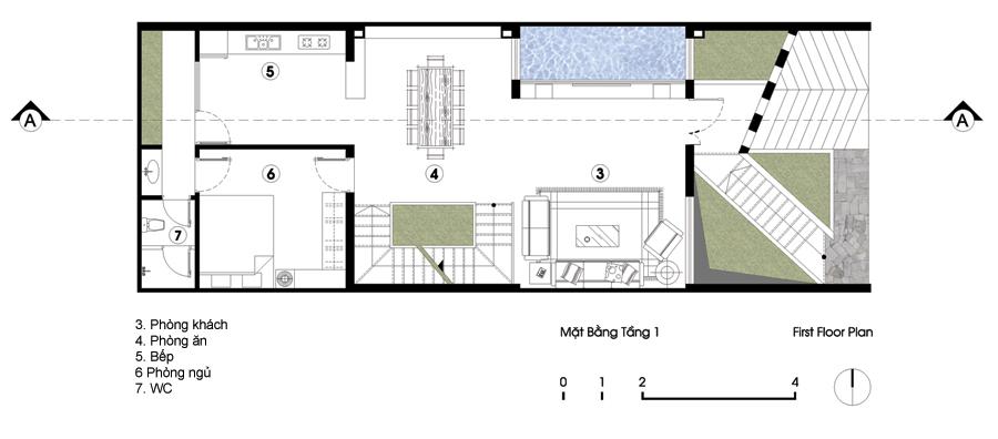nhà 3 tầng có hầm xe