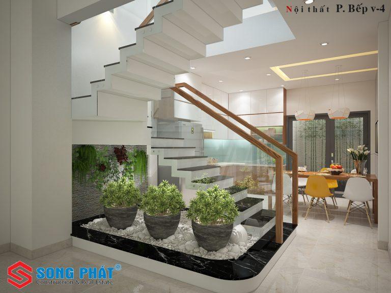 bố trí nội thất nhà 4 tầng