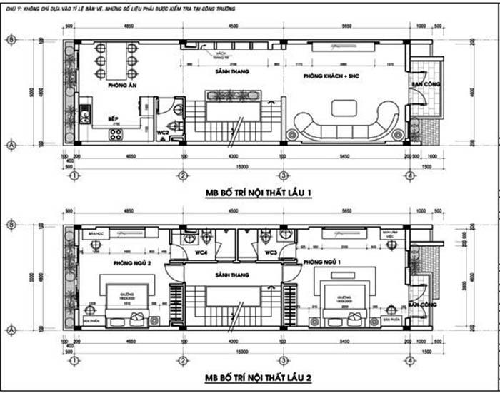 nội thất nhà 5 tầng