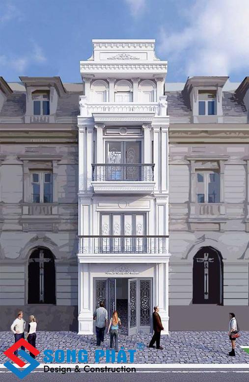 Mặt tiền nhà 3 tầng 2.