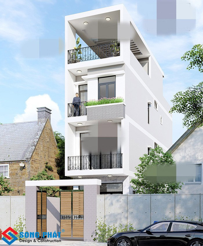 Hoàn thiện nhà 3 tầng 1 tum với sự tiện nghi hiện đại tại TPHCM
