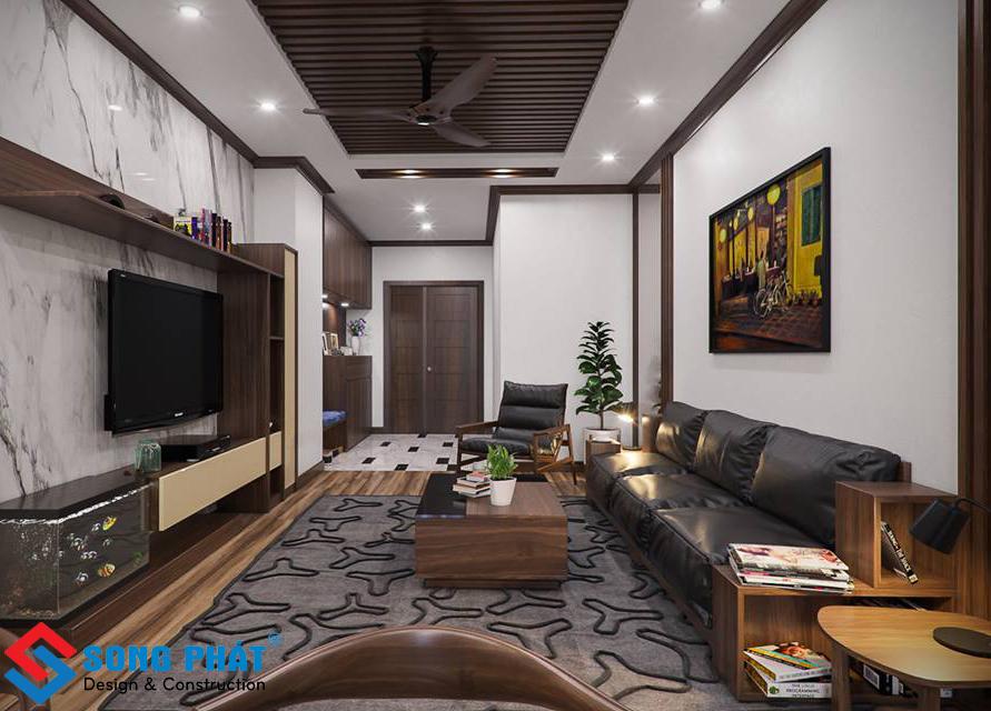 Thổi vào không gian nhà phố 4 tầng bằng màu nội thất gỗ sang trọng.