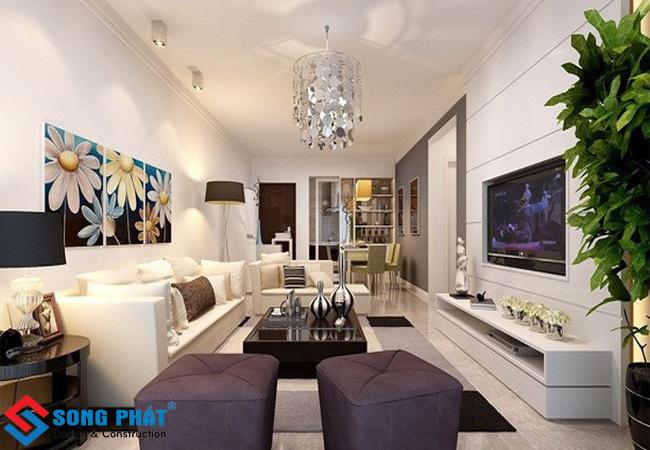15 ý tưởng cho thiết kế phòng khách nhà 2 tầng hiện đại tại TPHCM
