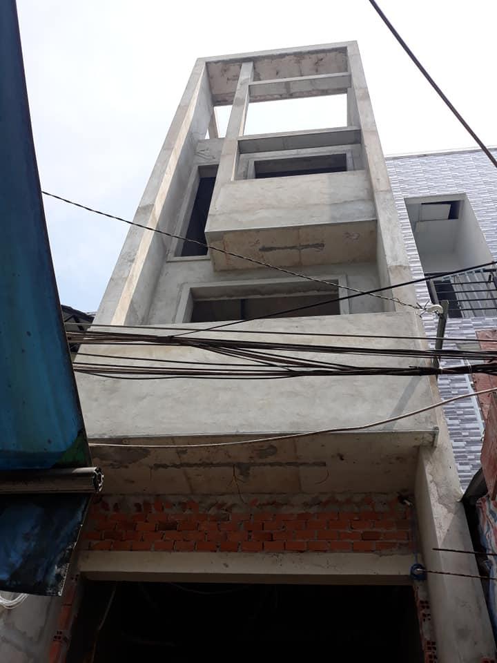 Thiết kế kiến trúc nhà 3 tầng 1 sân thượng.