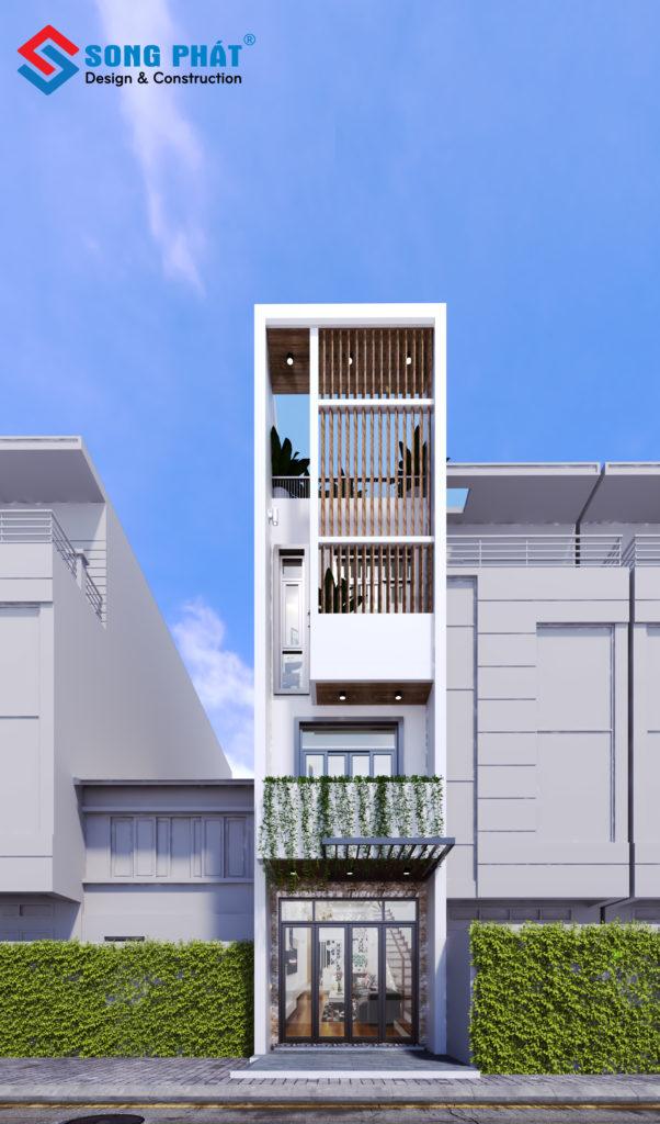 Đẹp ngỡ ngàng với thiết kế kiến trúc nhà 3 tầng 1 sân thượng tại Quận 6.