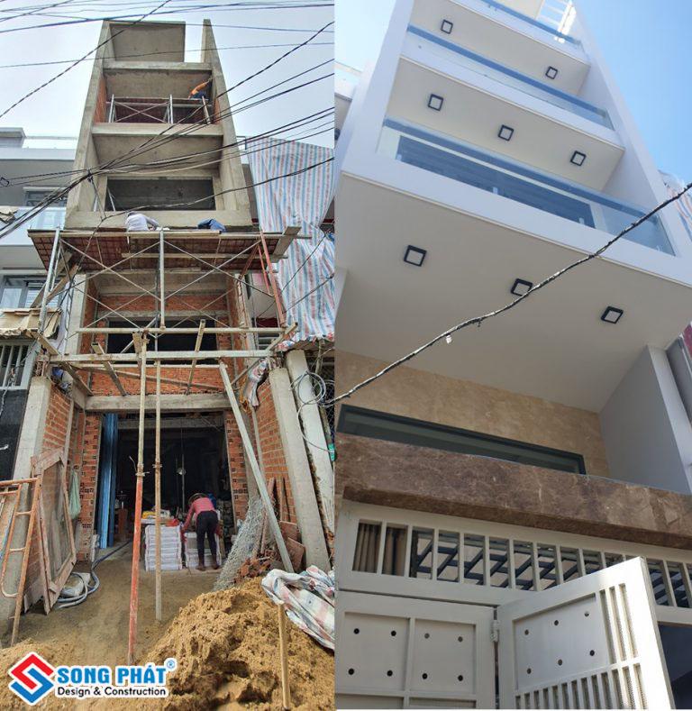 Bàn giao nhà phố 1 trệt 1 lửng 3 lầu cho chủ đầu tư tại Tân Bình.